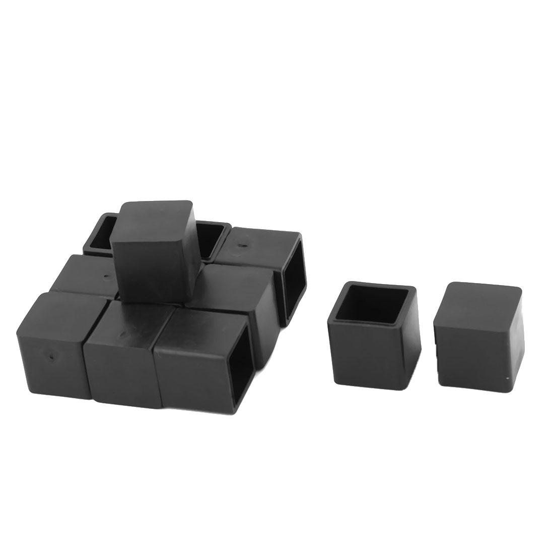 Family Rubber Anti-slip Furniture Chair Desk Foot Protector Cover Black 12 Pcs