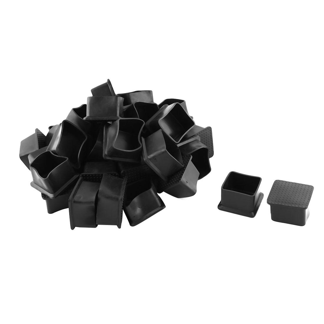 35x35mm Rubber Chair Leg Caps Tips Furniture Table Covers Floor Protectors 36pcs