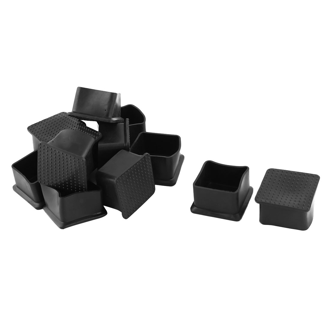 Office Rubber Anti-slip Furniture Chair Desk Foot Legs Cover 35mm x 35mm 12 Pcs