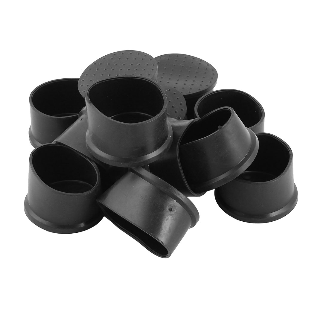 Home Rubber Furniture Chair Table Foot Cover Pad Caps Black 50mm Hole Dia 12 Pcs