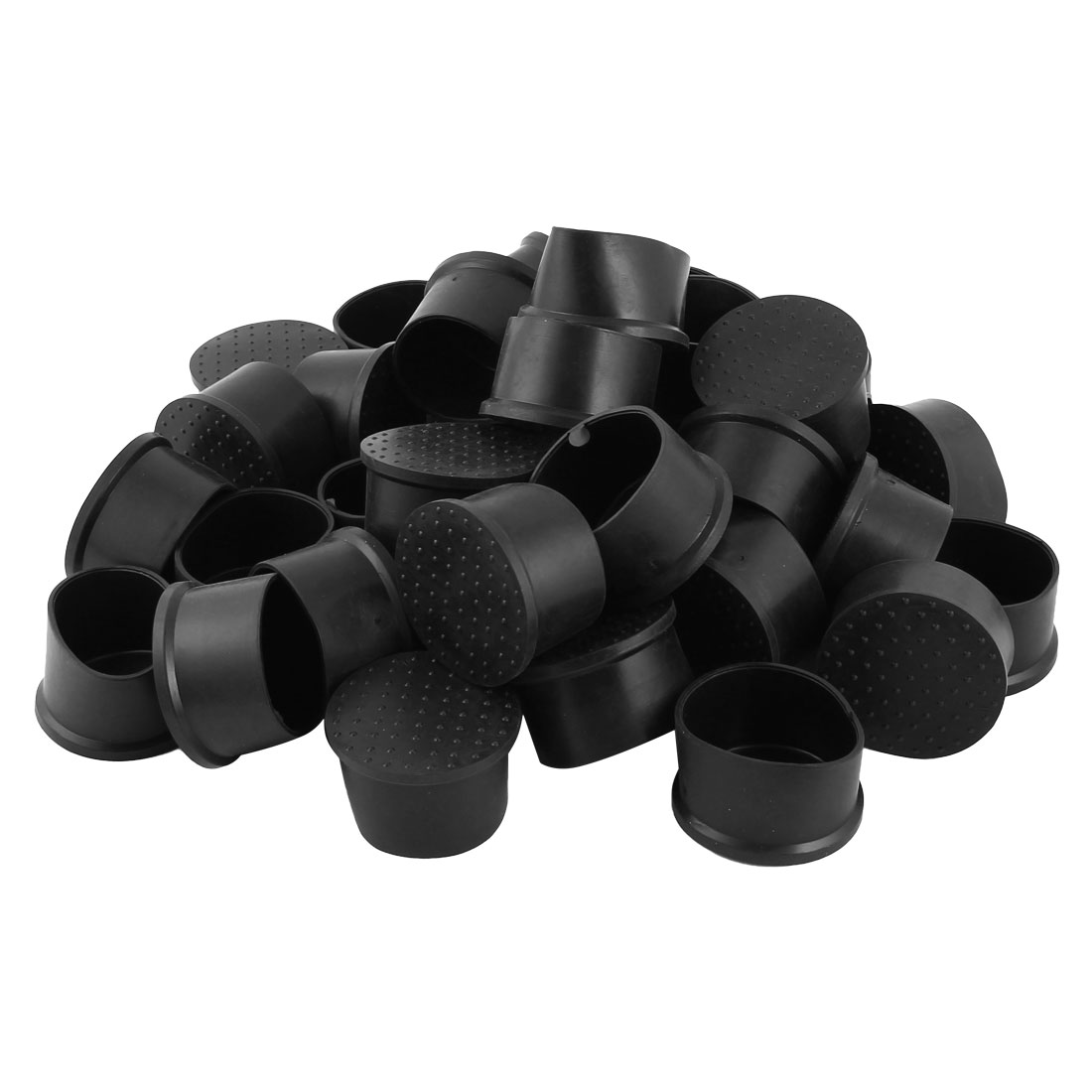 Rubber Furniture Chair Table Foot Pad Cap Cover Protector 50mm Hole Dia 36 Pcs