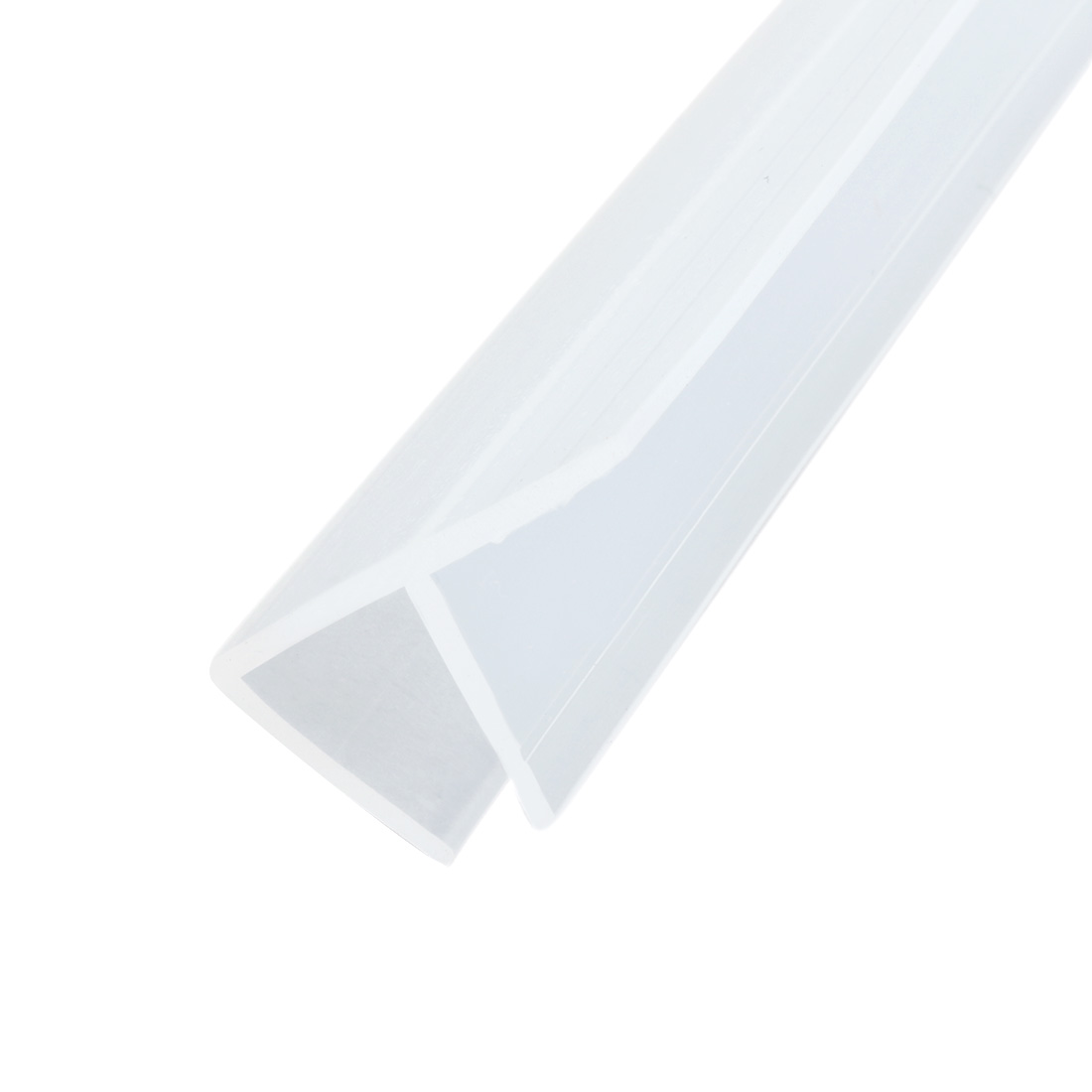 39-inch F Shaped Frameless Window Shower Door Seal Clear for 8mm (approx 5/16-inch) Glass