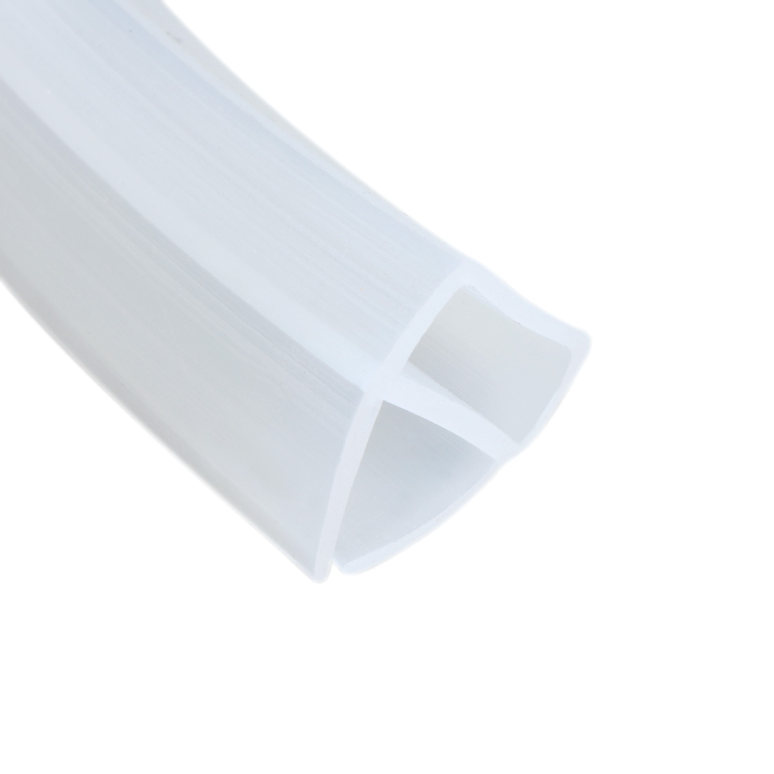 39-inch U Shaped Frameless Window Shower Door Seal Clear for 3/8-inch Glass