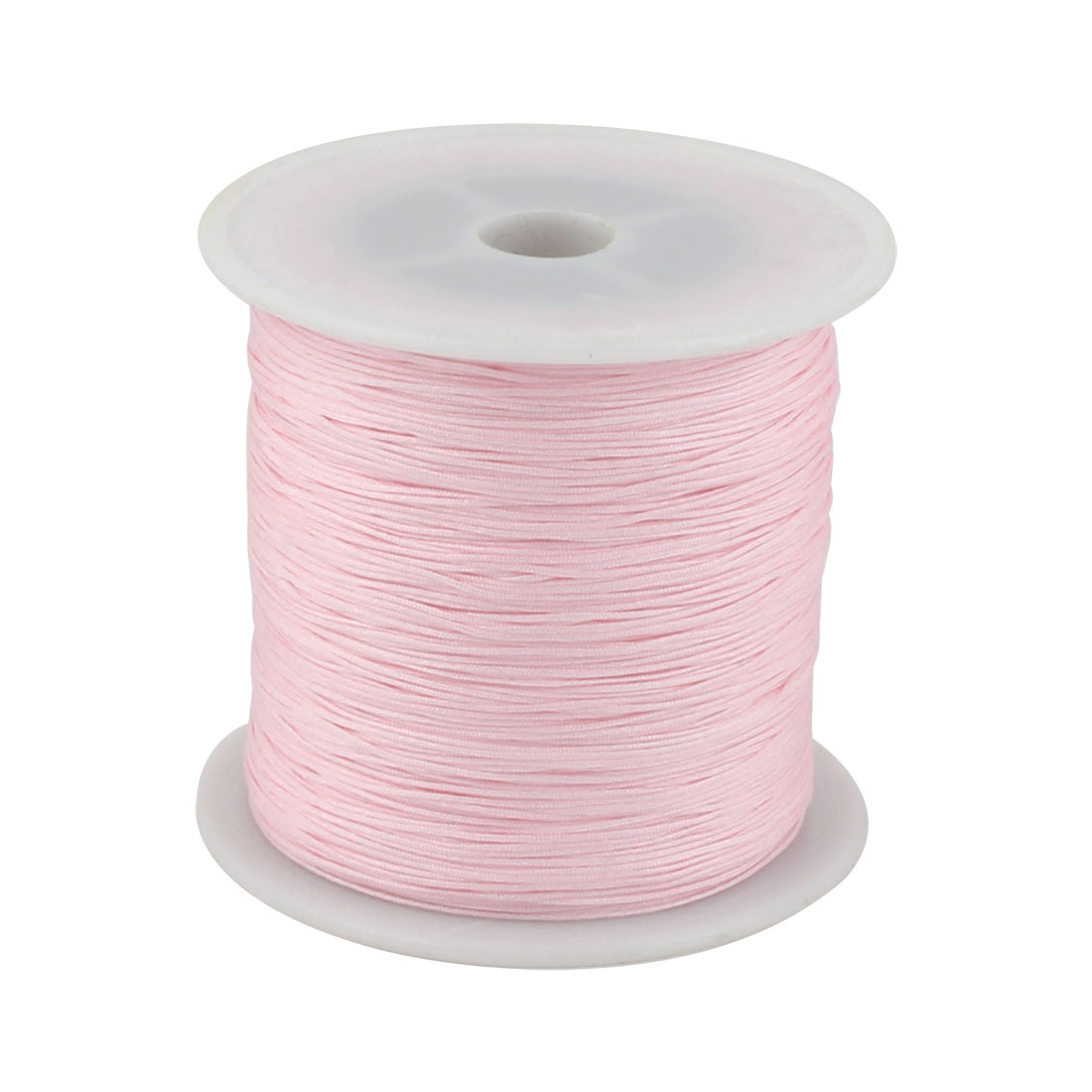 Nylon DIY Art Braided Beading Chinese Knot Cord String Rope Roll Pink 153 Yards