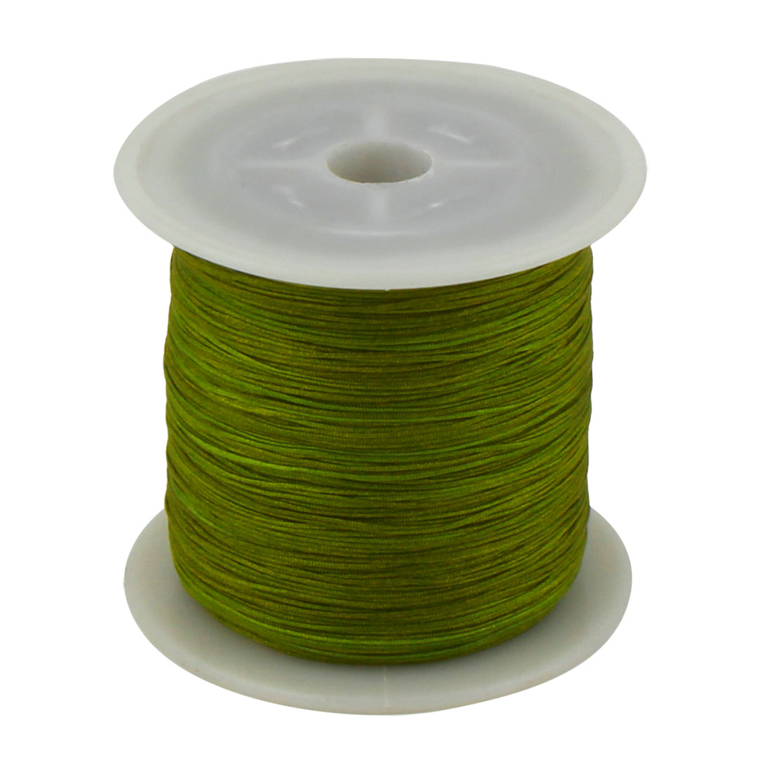 Nylon DIY Art Craft Braided Chinese Knot Cord String Roll Olive Green 153 Yards