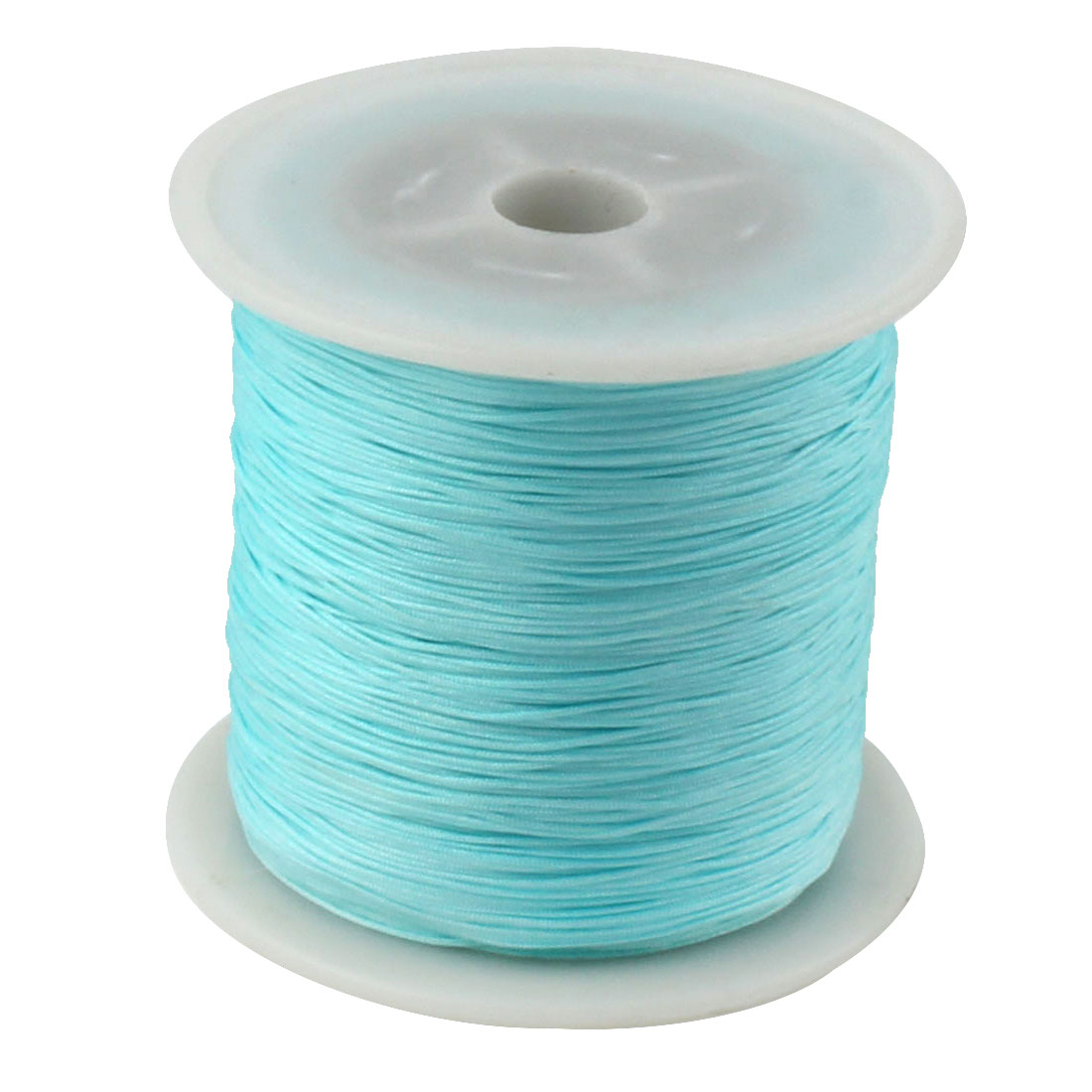 Nylon DIY Art Craft Braided Beading Cord String Rope Roll Sky Blue 153 Yards