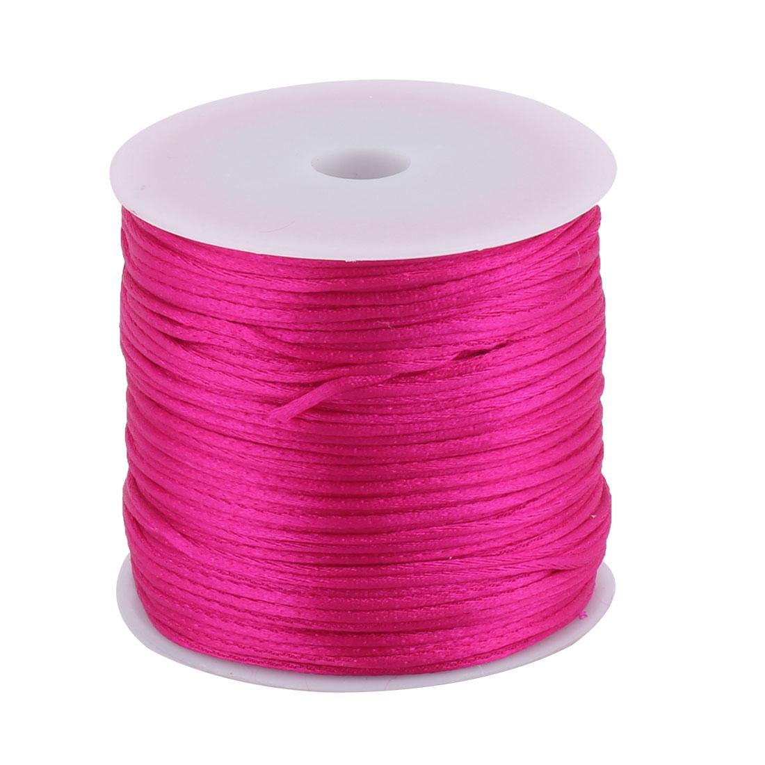 Nylon Handicraft DIY Knit Fan Decor Pendant Cord Fuchsia 1.5mm Dia 78.7 Yards