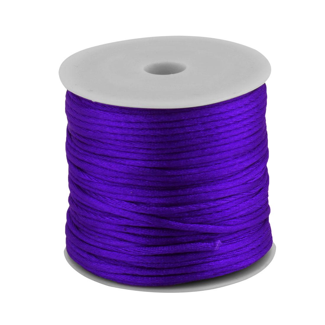 Nylon Handicraft DIY Knit Key Chains Doll Pendant Cord Purple 2mm Dia 49 Yards