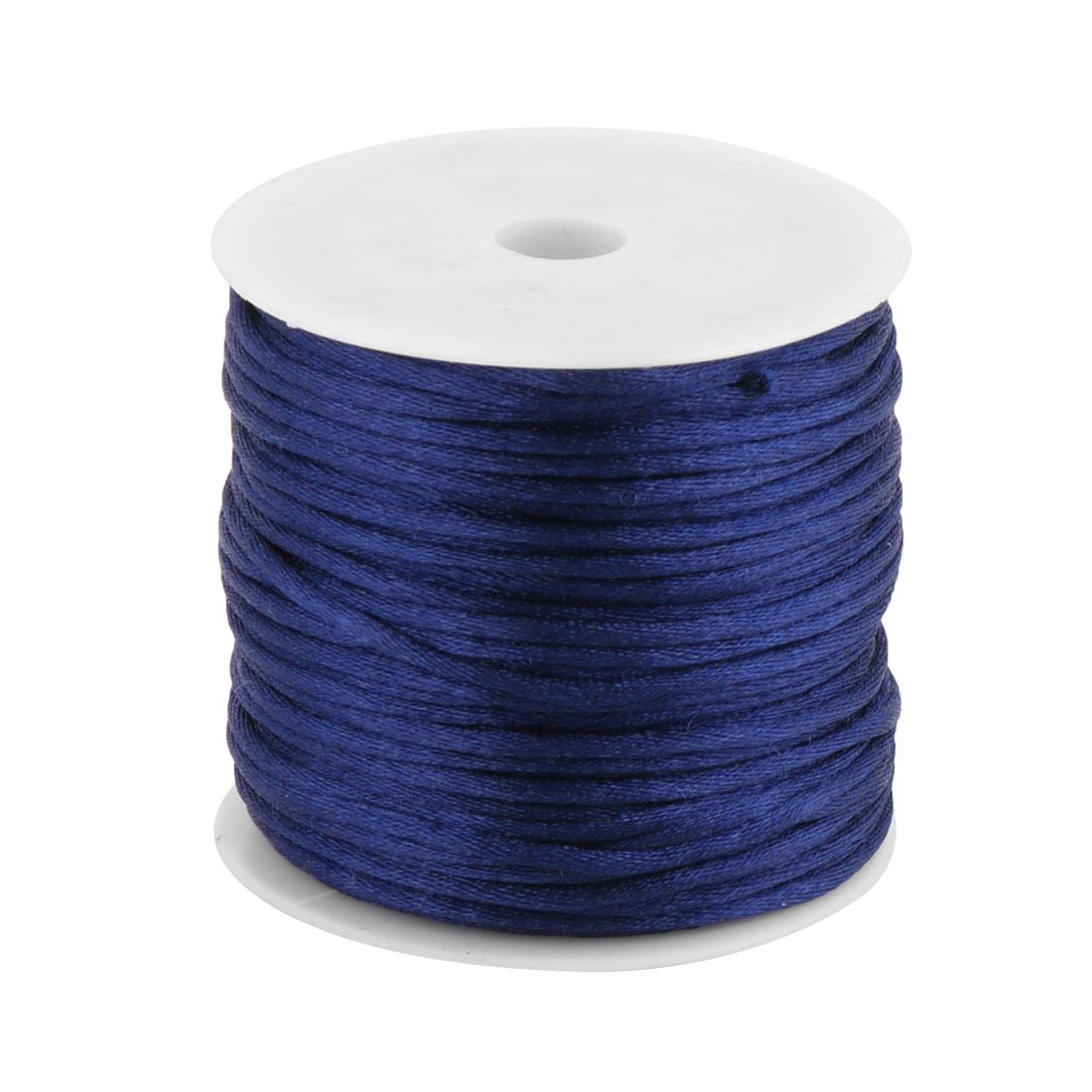 Nylon Handicraft Adornment Chinese Knot String Dark Blue 2mm Dia 49 Yards