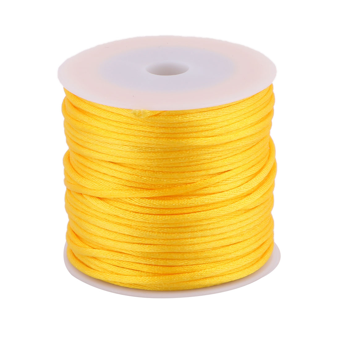Nylon Handicraft Adornment Chinese Knot String Yellow 2mm Dia 49 Yards