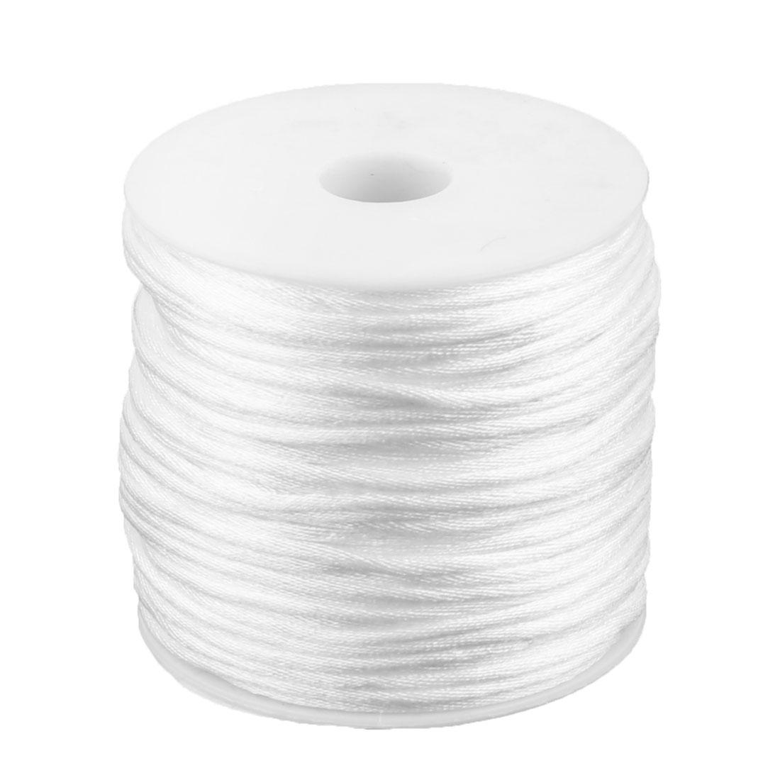 Nylon Handicraft Braided Adornment Chinese Knot String White 2mm Dia 49 Yards