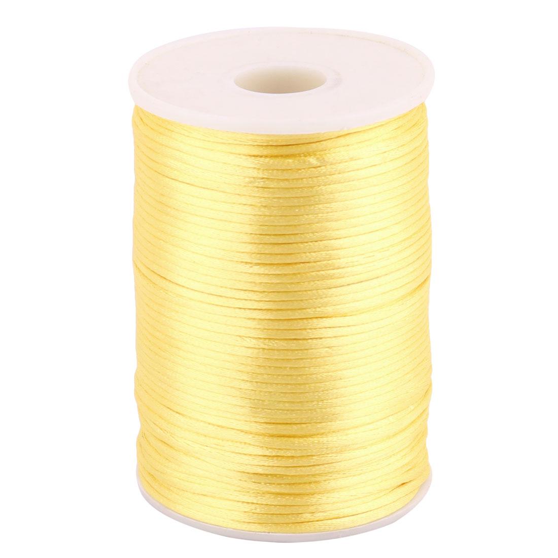 Nylon Soft Handicraft Chinese Knot Knit String Gold Tone 2.5mm Dia 109 Yards