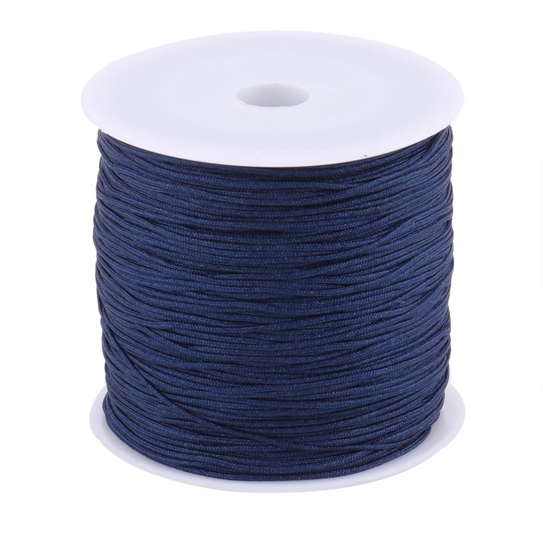 Nylon Chinese Knot DIY Craft Braided Cord String Navy Blue 0.8mm Dia 110 Yards