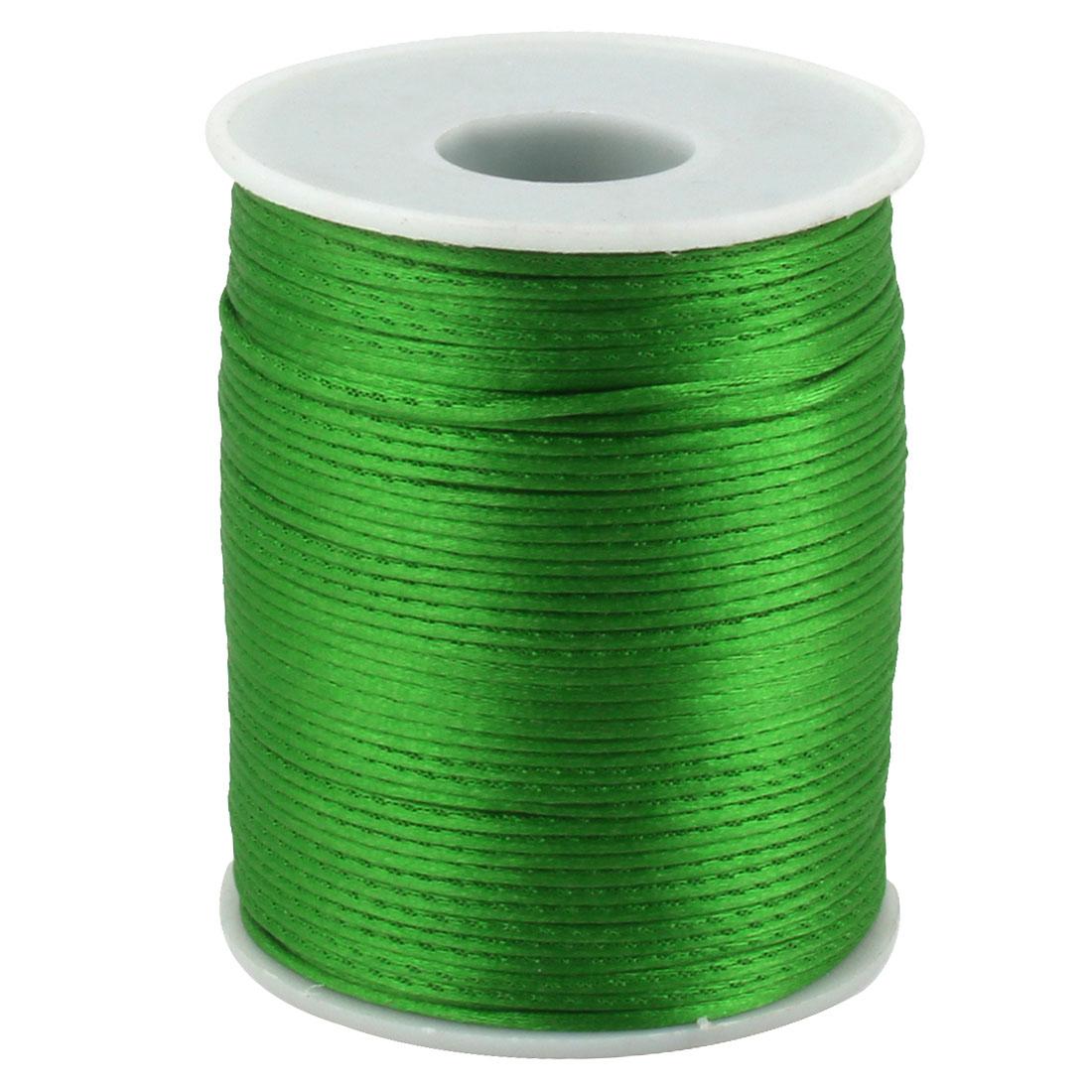 Festival Nylon DIY Craft Braided Chinese Knot Cord Thread String Green 109 Yards