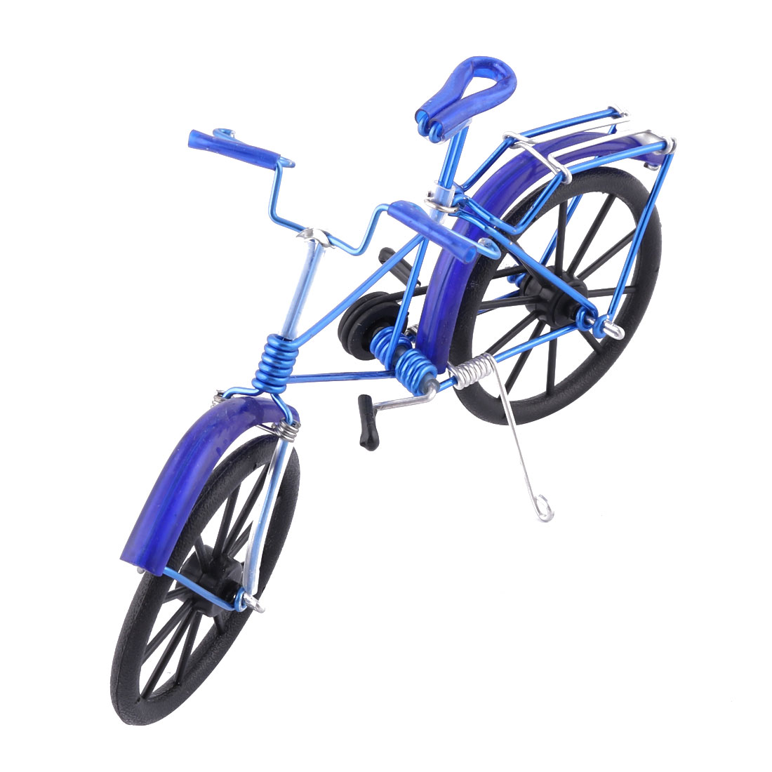 Aluminium Alloy Vintage Style Desk Decor Craft Toy Gift Bicycle Model Royal Blue