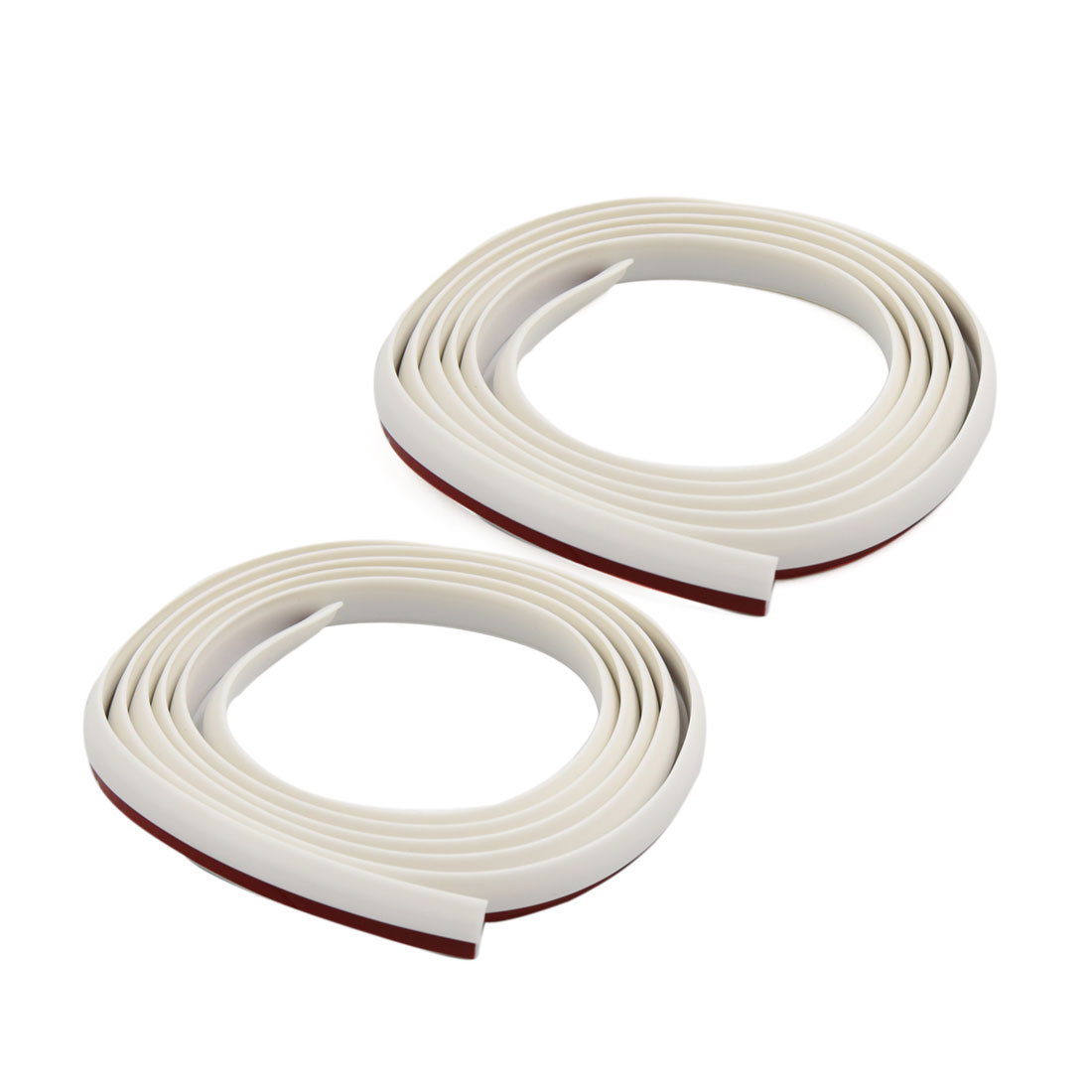 2 Pcs 167cm White Car Door Edge Guards Bumper Protection Strip Scratch Protector