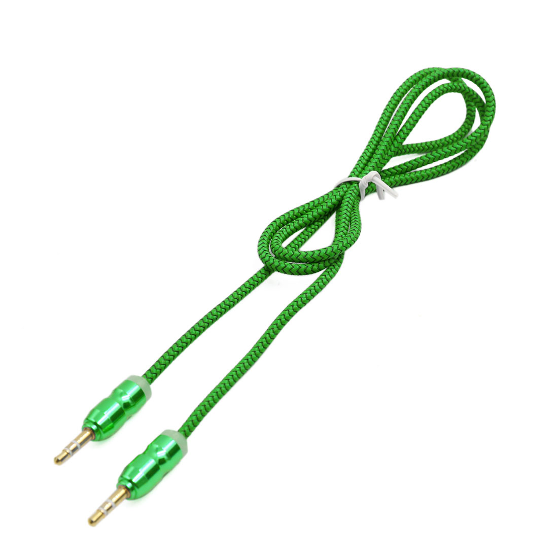 Green 3.5mm Adapter Male to Male Car Stereo Audio Headphone Aux Cable 103cm