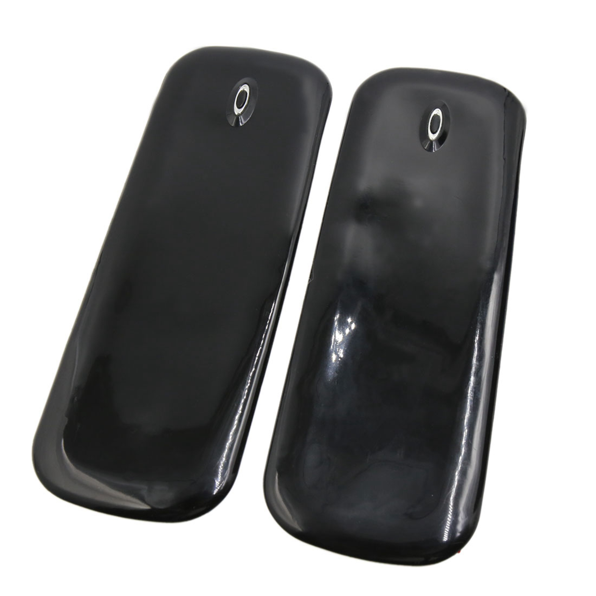 2 Pcs Black Rubber Car Front Rear Bumper Protector Corner Guard Scratch Sticker