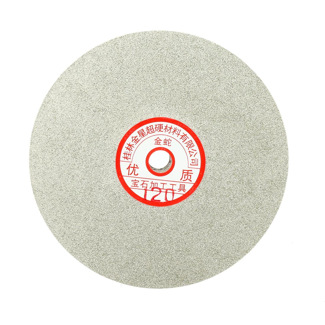 6-inch Grit 120 Diamond Coated Flat Lap Wheel Grinding Sanding Polishing Disc