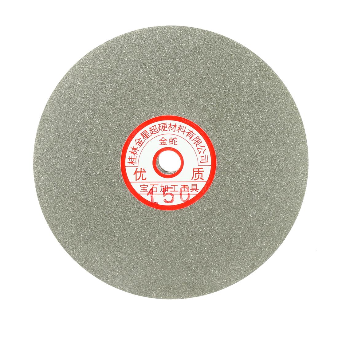6-inch Grit 150 Diamond Coated Flat Lap Wheel Grinding Sanding Polishing Disc