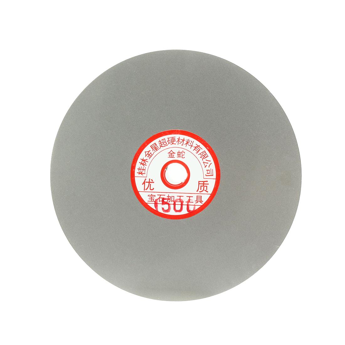 6-inch Grit 1500 Diamond Coated Flat Lap Wheel Grinding Sanding Polishing Disc