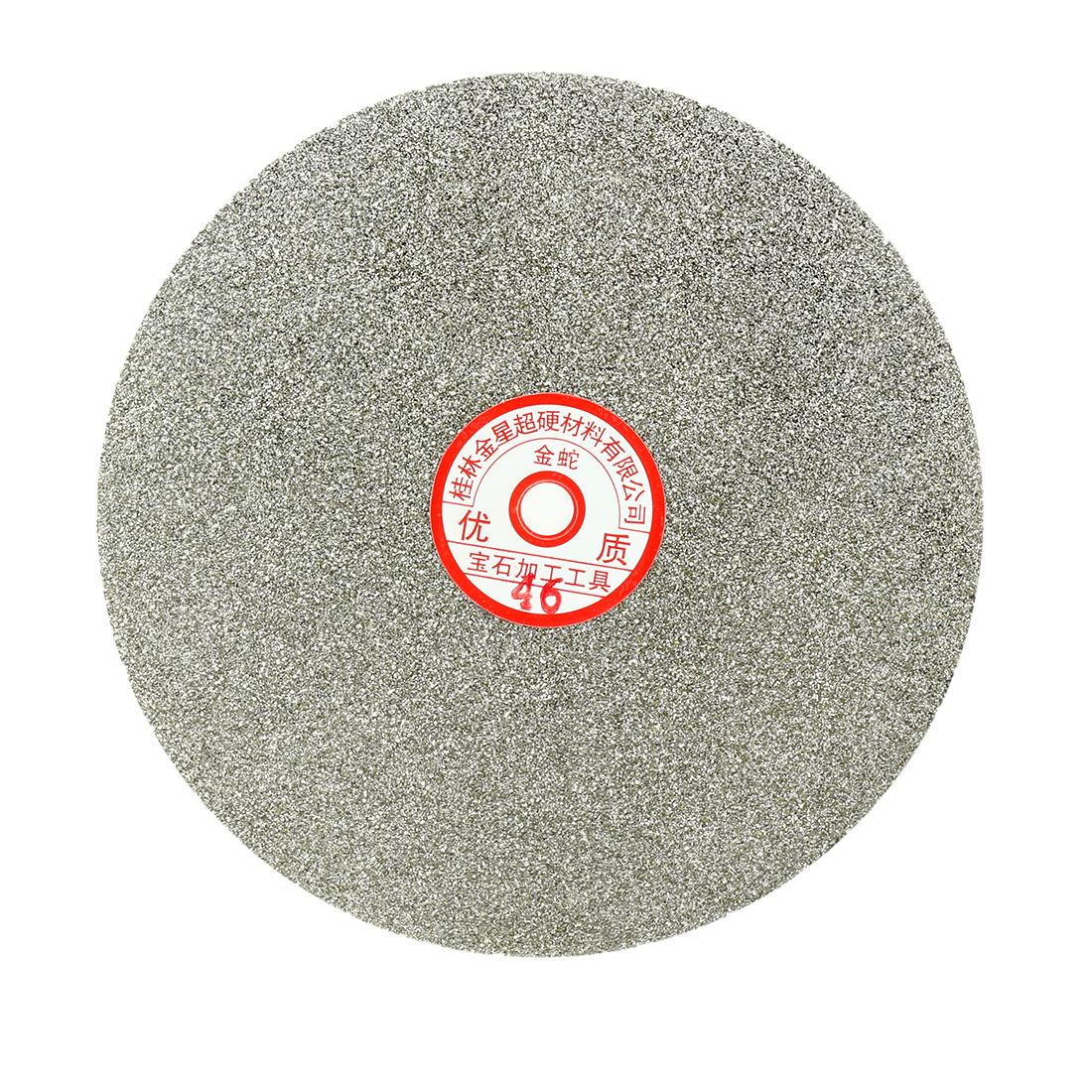 200mm 8-inch Grit 46 Diamond Coated Flat Lap Disk Wheel Grinding Sanding Disc