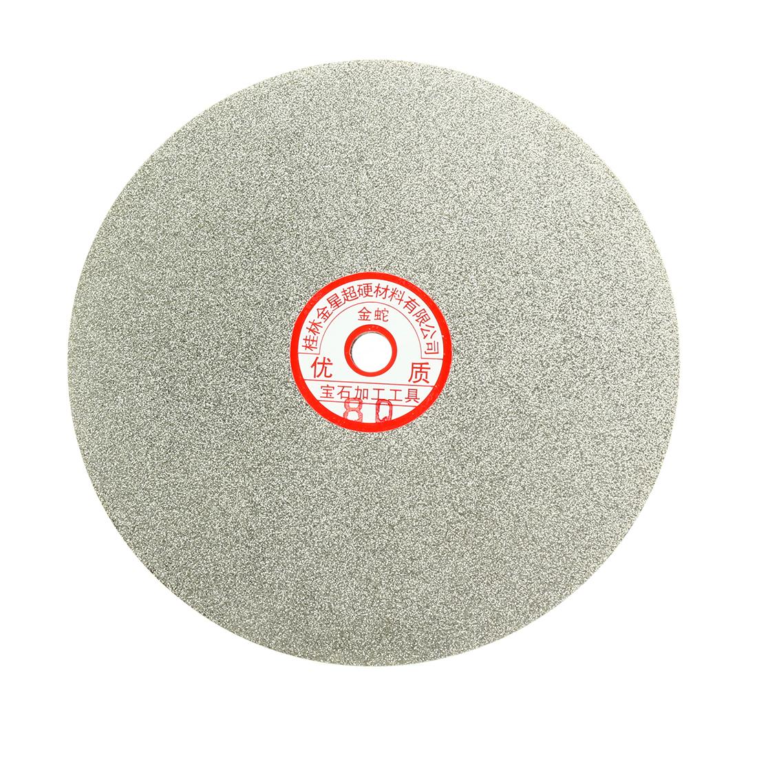 200mm 8-inch Grit 80 Diamond Coated Flat Lap Disk Wheel Grinding Sanding Disc