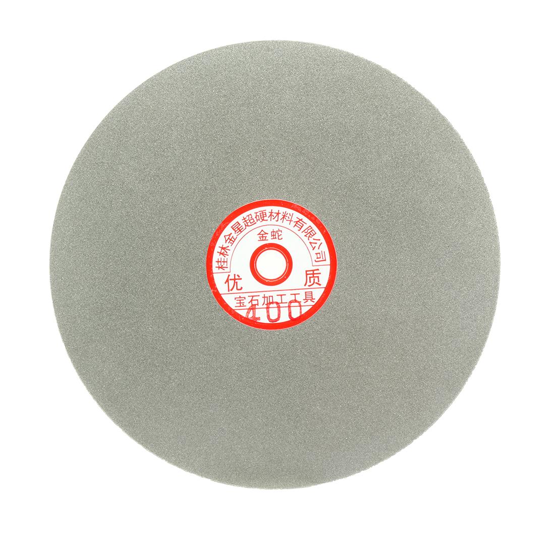 200mm 8-inch Grit 400 Diamond Coated Flat Lap Disk Wheel Grinding Sanding Disc