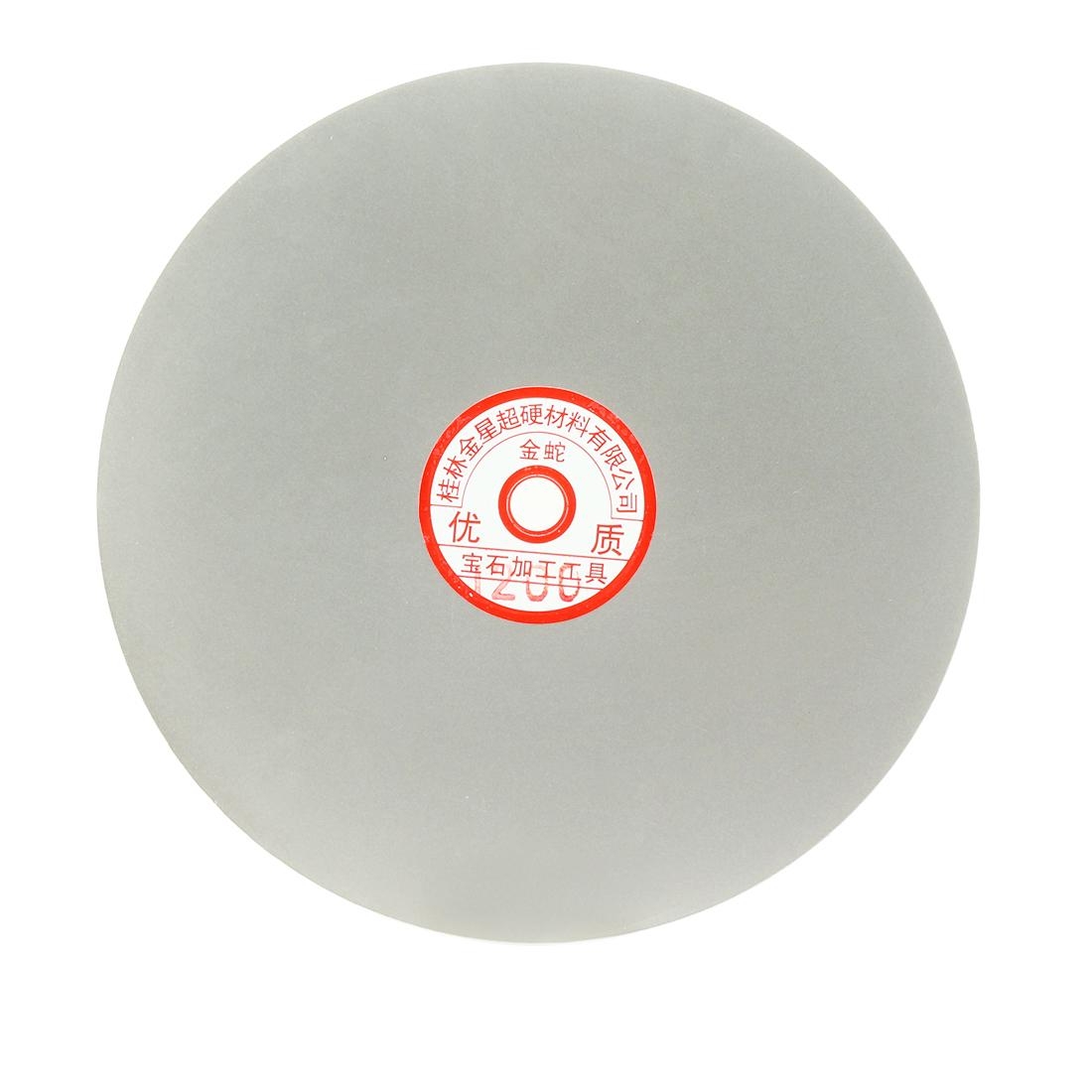 200mm 8-inch Grit 1200 Diamond Coated Flat Lap Disk Wheel Grinding Sanding Disc