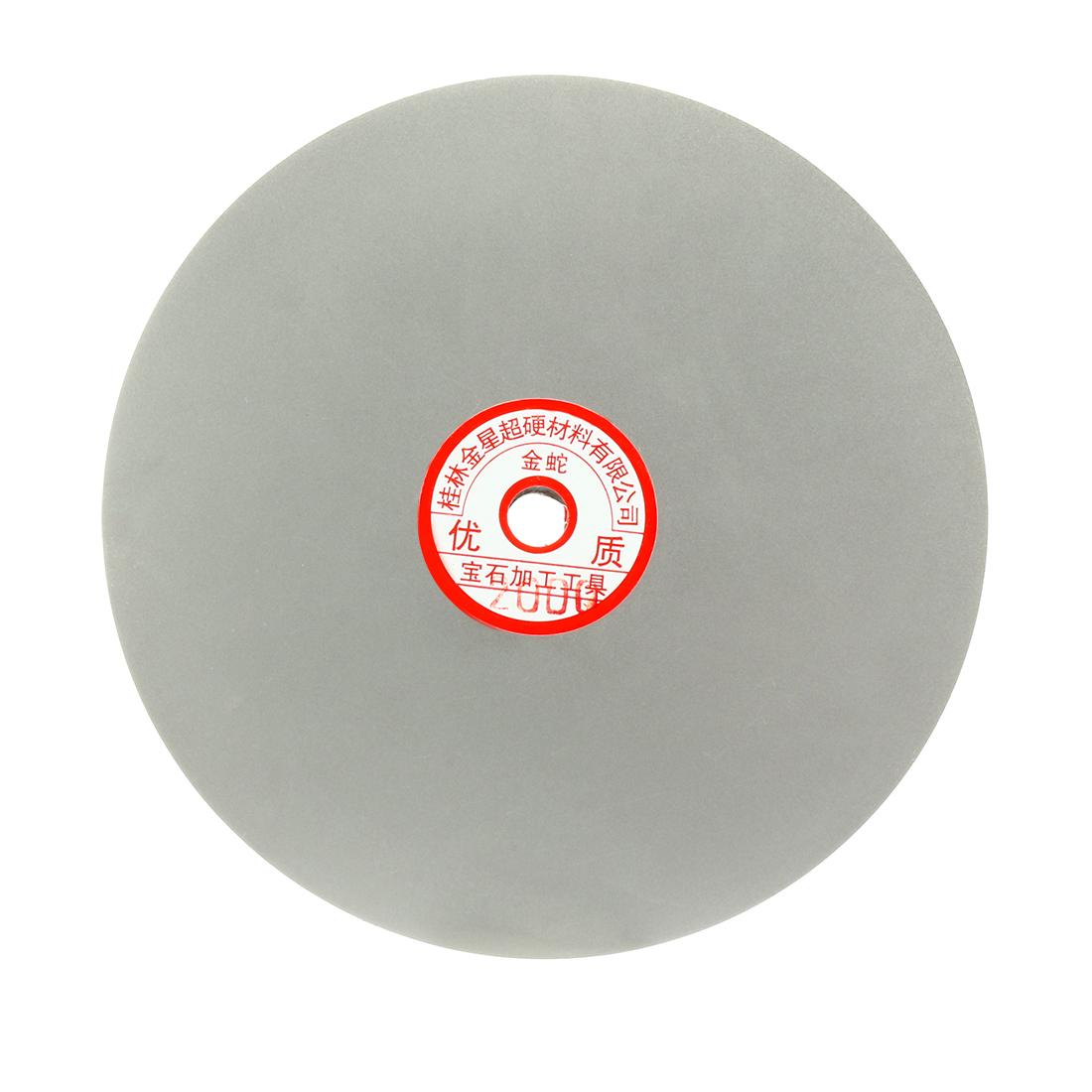 200mm 8-inch Grit 2000 Diamond Coated Flat Lap Disk Wheel Grinding Sanding Disc