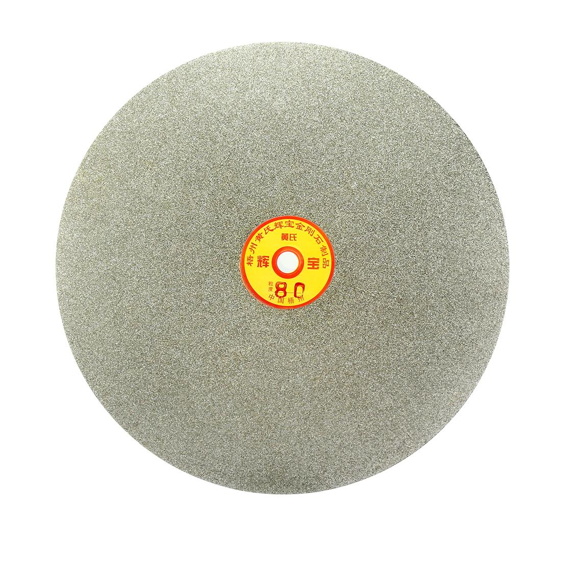250mm 10-inch Grit 80 Diamond Coated Flat Lap Disk Wheel Grinding Sanding Disc