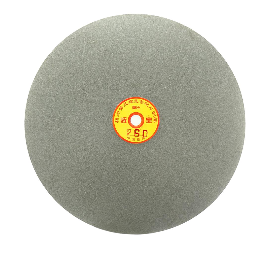 250mm 10-inch Grit 260 Diamond Coated Flat Lap Disk Wheel Grinding Sanding Disc