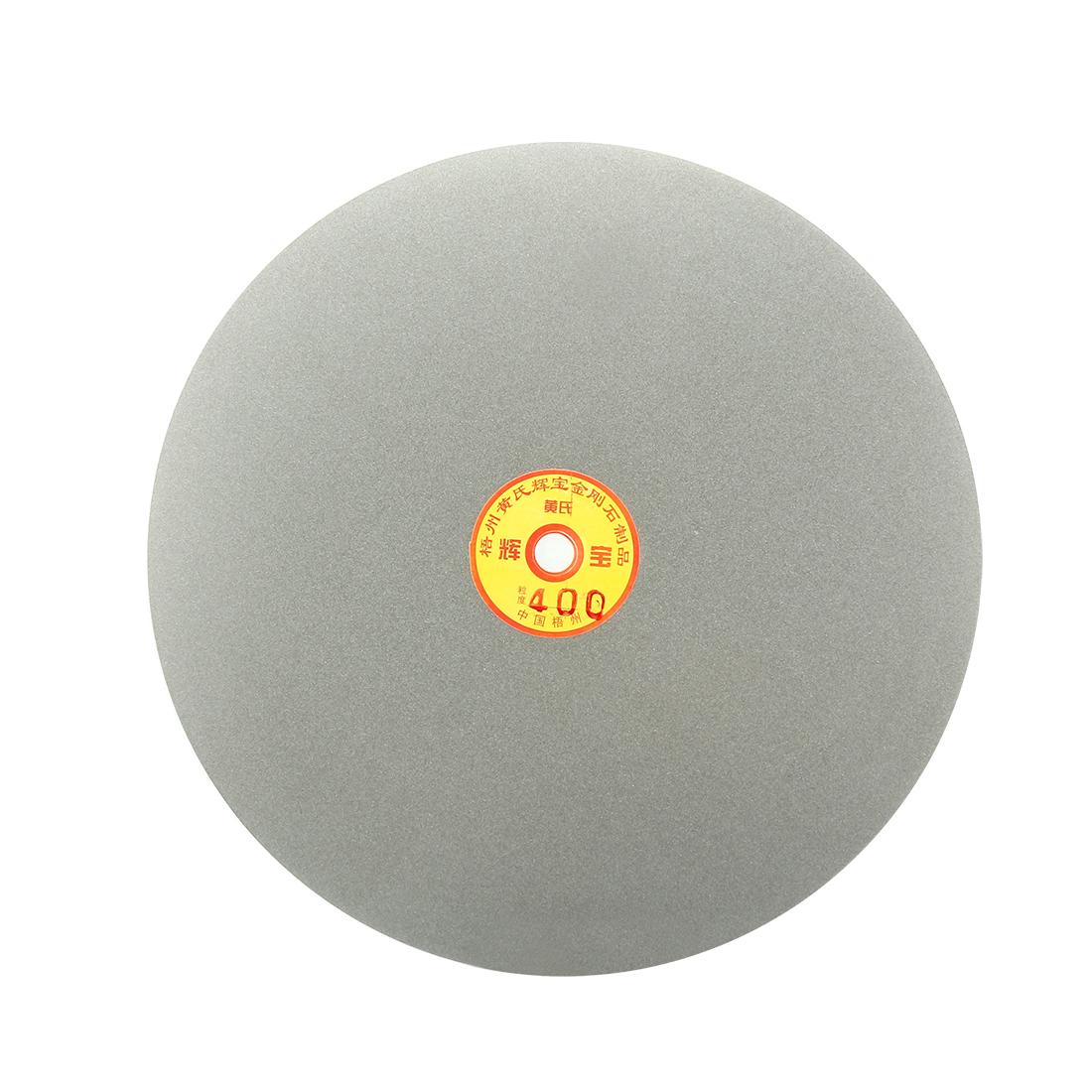 250mm 10-inch Grit 400 Diamond Coated Flat Lap Disk Wheel Grinding Sanding Disc
