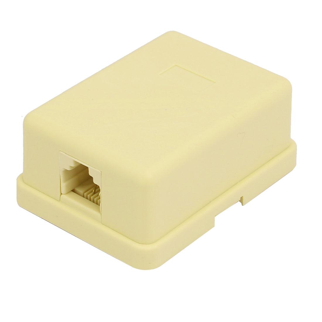 RJ11 6P4C to Female Telephone Modular Splitter Joiner Surface Mount Phone Jack