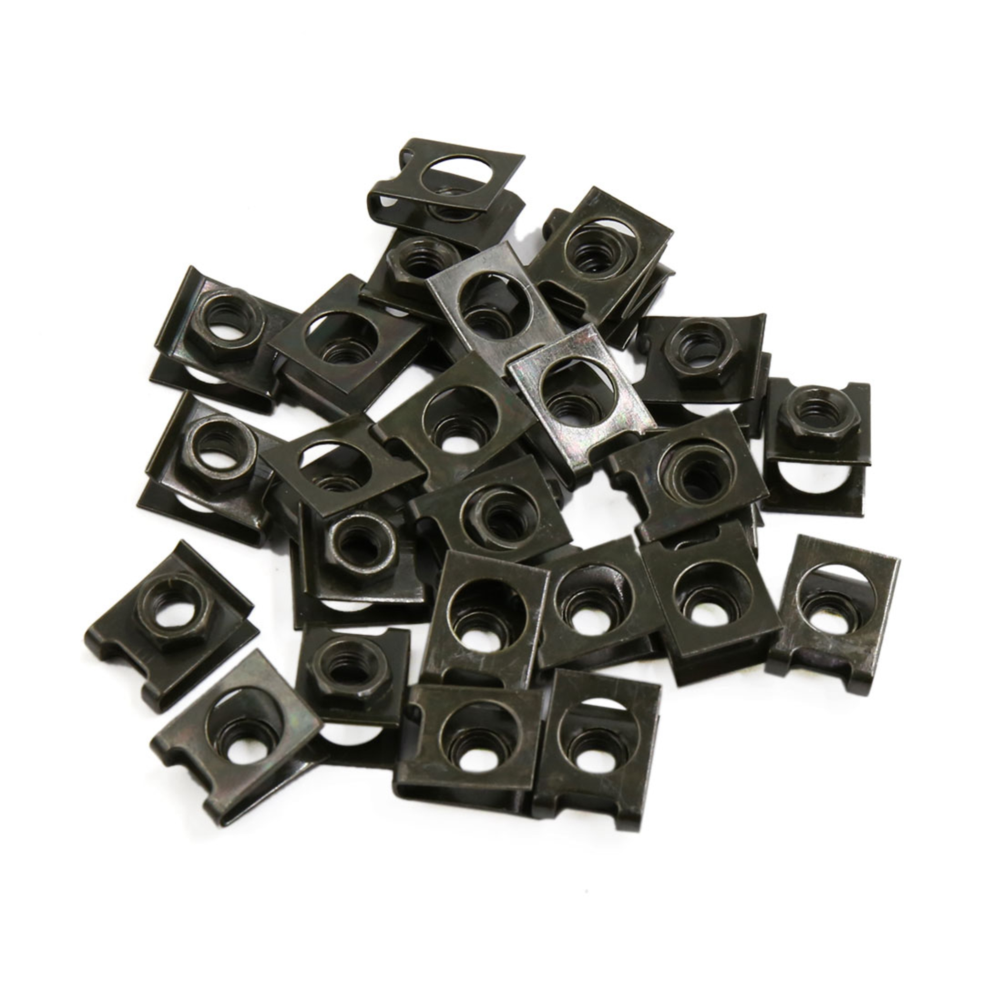 27pcs Dark Green Metal Motorcycle Fairing Bolts Screws U-Type Fastener Clips
