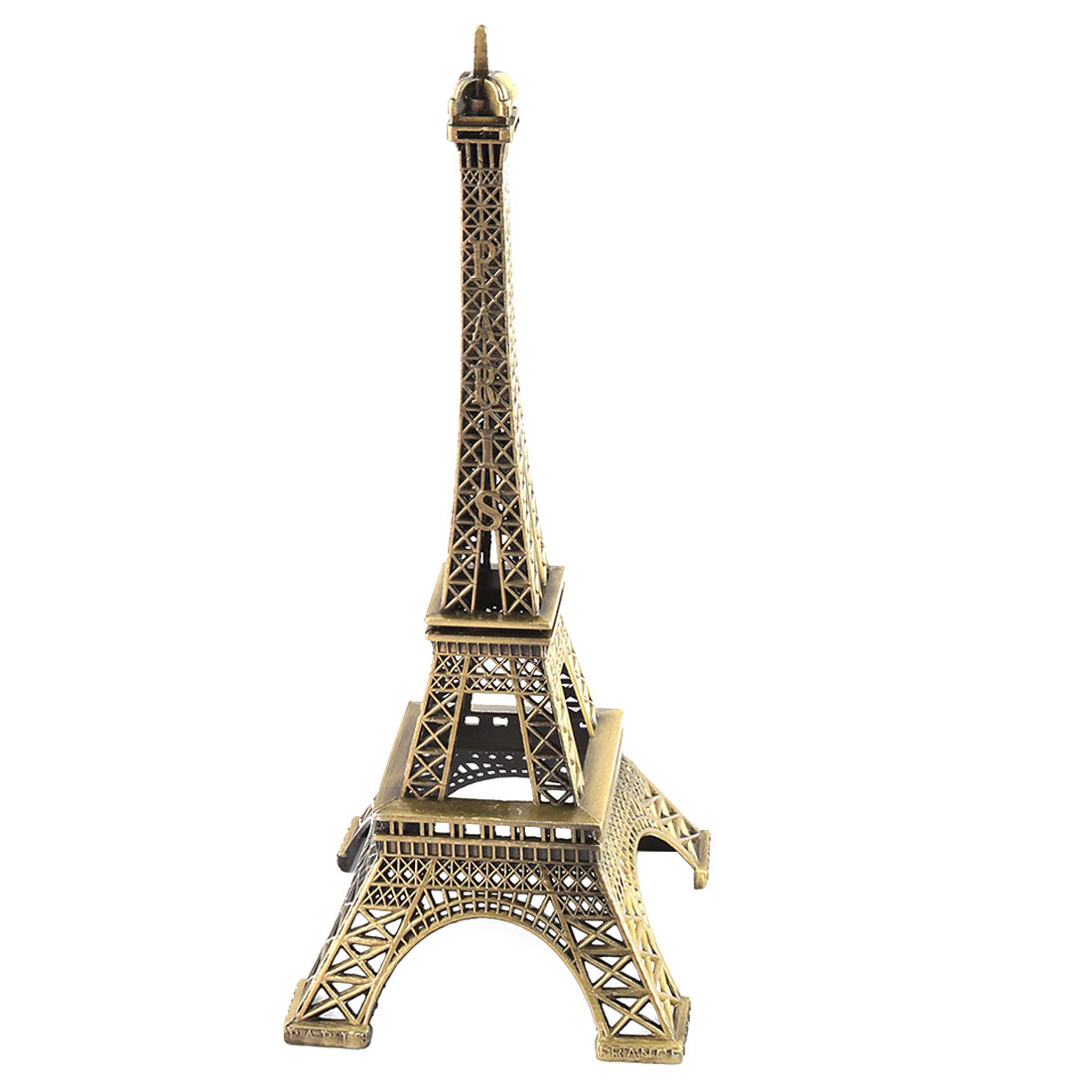Family Metal Desktop Table Decor Eiffel Tower Model Bronze Tone 10 x 10 x 25.3cm