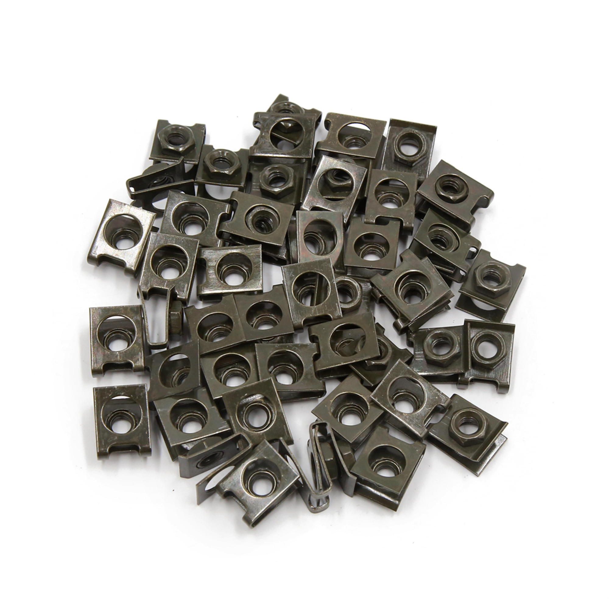 50 Pcs Dark Green Metal Motorcycle M6 U Nuts Fairing Clip Speed Fastener