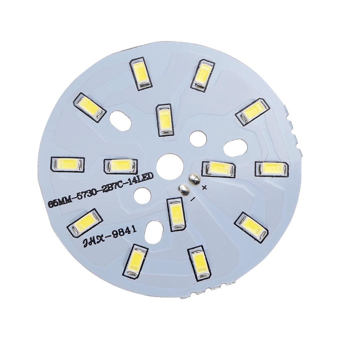 600mA 7W 14 LEDs 5730 SMD LED Chip Module Aluminum Board Pure White 65mm Dia