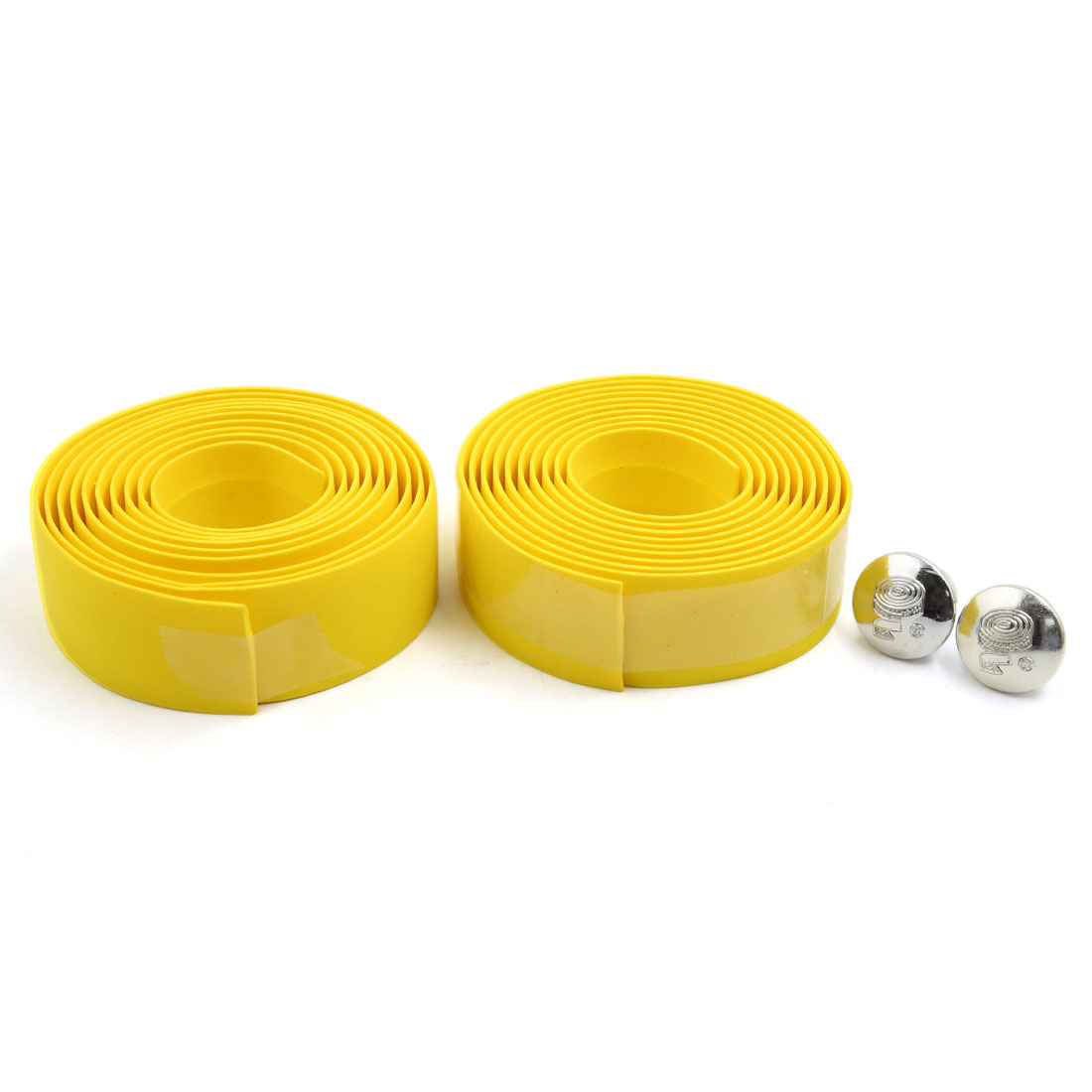 2 Pcs Yellow Road Bike Cycling Handlebar Non-slip Tape Wrap Bicycle Handle Belt