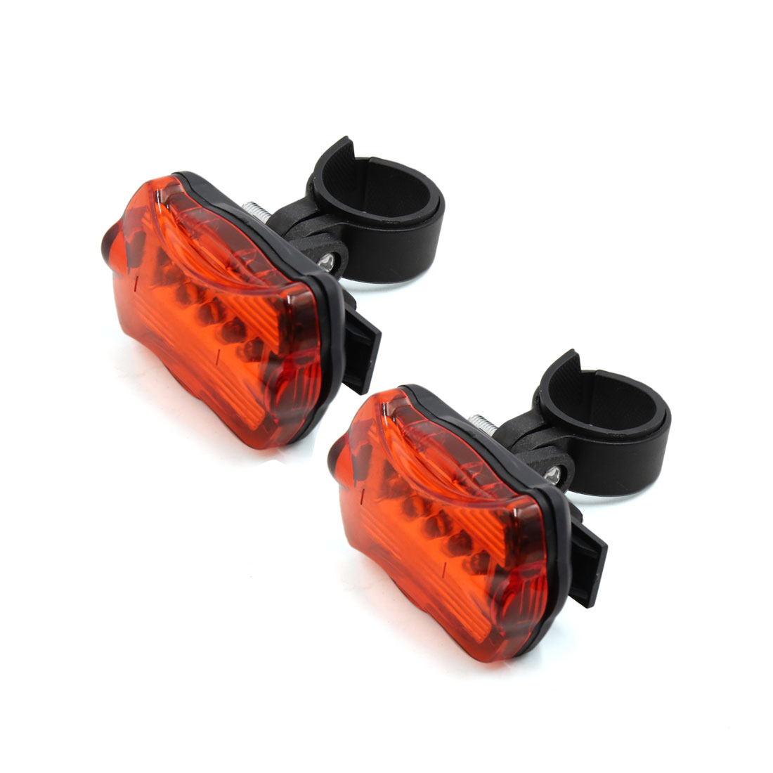 2 Pcs 7 Modes 5 Red LED Bike Bicycle Safety Rear Tail light Lamp w Bracket