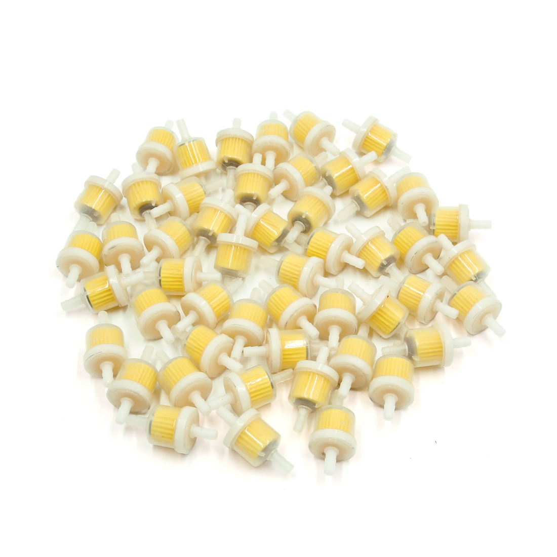 50Pcs White Plastic Magnetic Inline Gas Fuel Filter for Motorcycle Motorbike