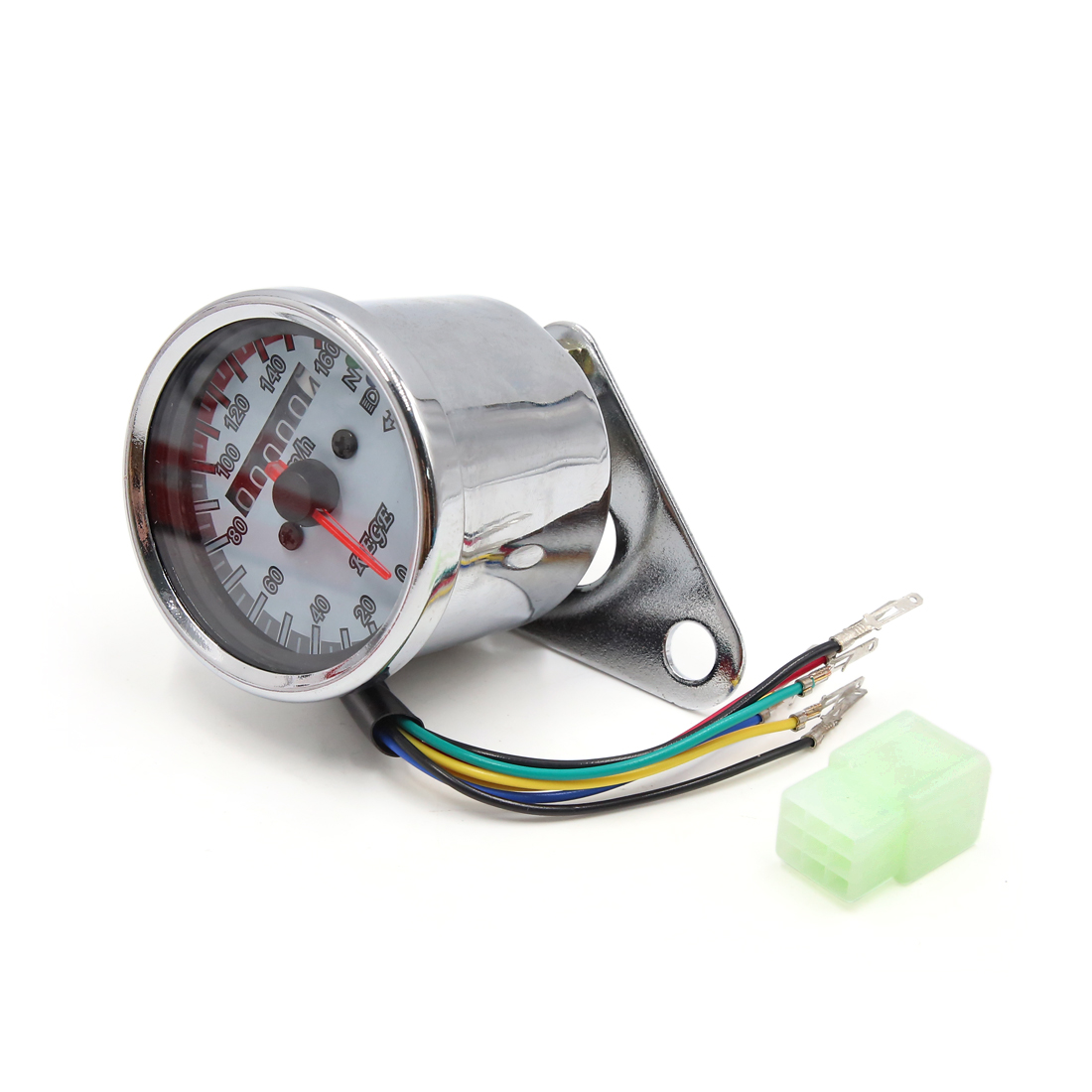 Universal Chrome Plating 0-160Km/h Speedometer Odometer Gauge for Motorcycle