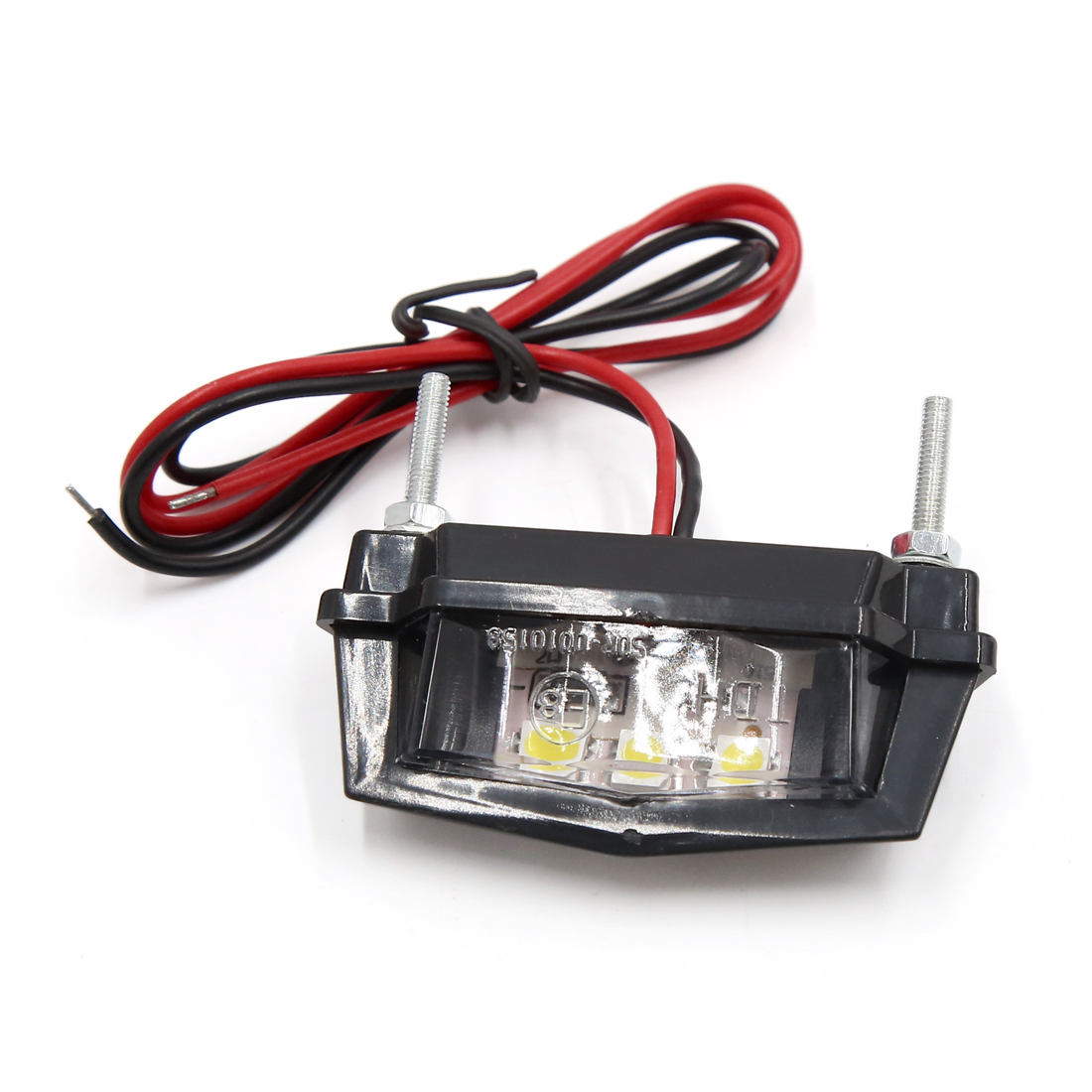 Universal White 3 LEDs License Plate Light Lamp Bulb for Motorcycle Motorbike