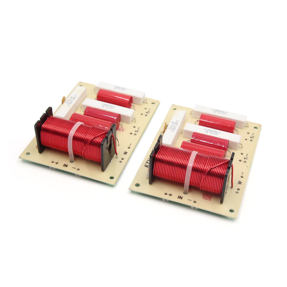 2Pcs Speaker Audio Frequency Divider 2 Way Crossover Filters 250W