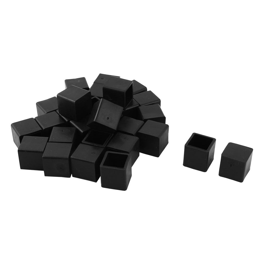 Home Rubber Furniture Foot Anti-slip Protector Cover Black 20mm x 20mm 29 Pcs