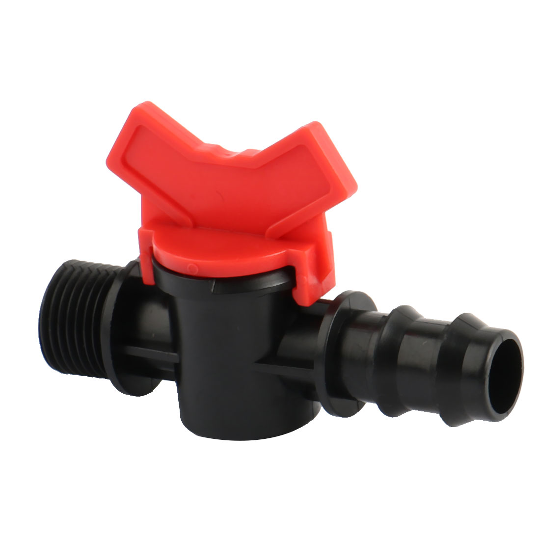 Kitchen Plastic Water Flow Supplies Regulating Knob Tap Ball Valve Red Black