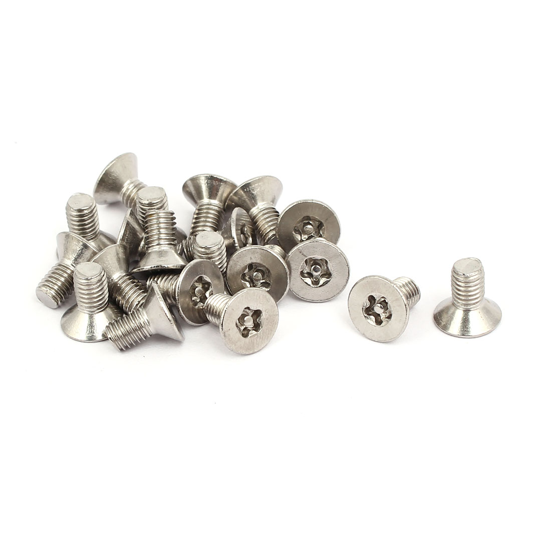M5x10mm 304 Stainless Steel Flat Head Torx Five-Lobe Tamper Screw 20pcs