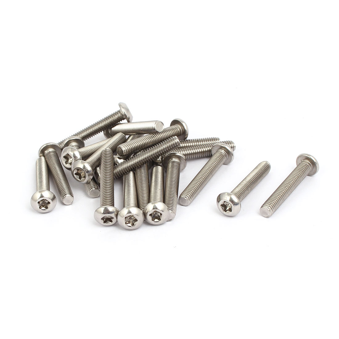 M5x30mm 304 Stainless Steel Fully Thread Torx Five-Lobe Screw Fastener 20pcs