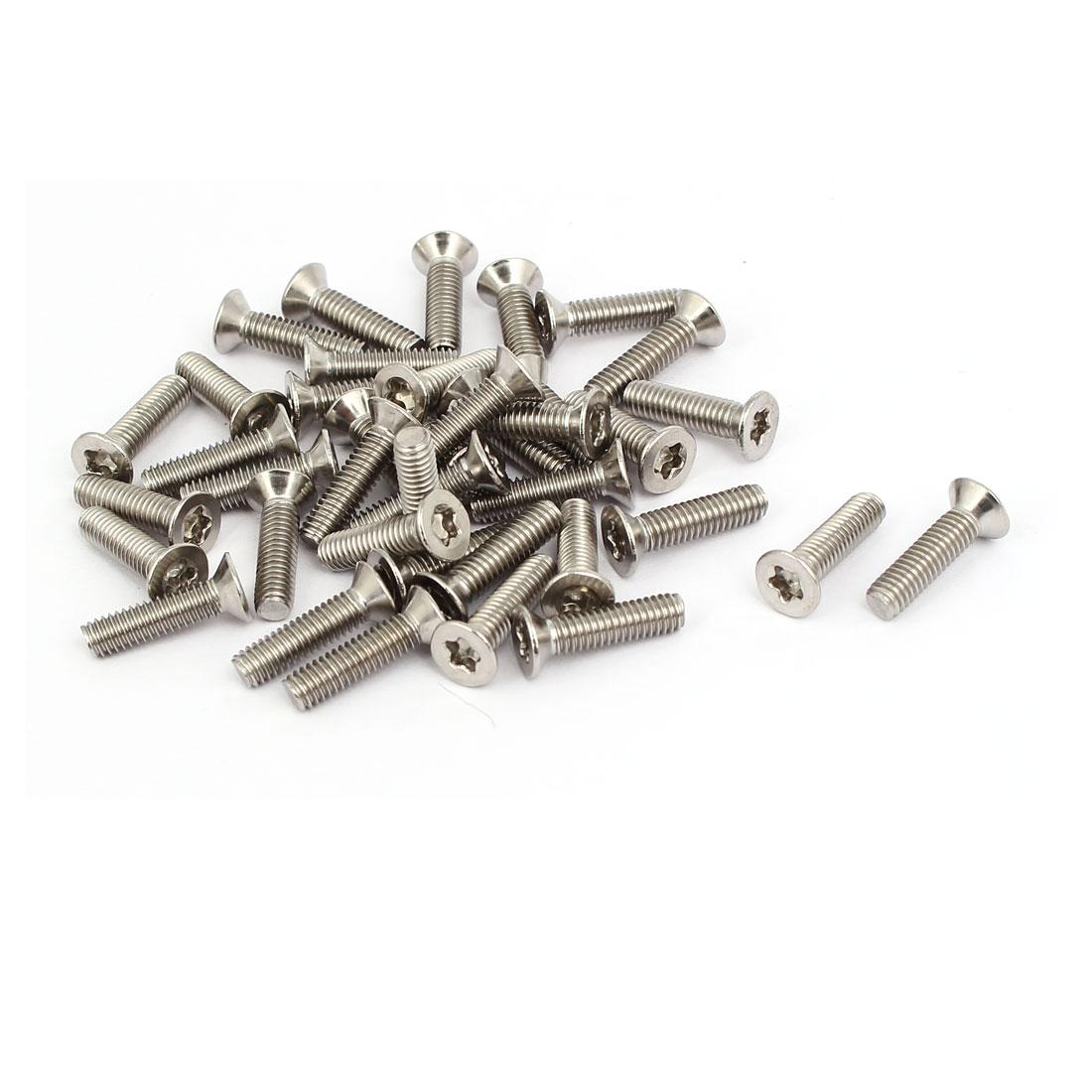 M4x16mm 304 Stainless Steel Countersunk Flat Head Torx Five-Lobe Screw 40pcs