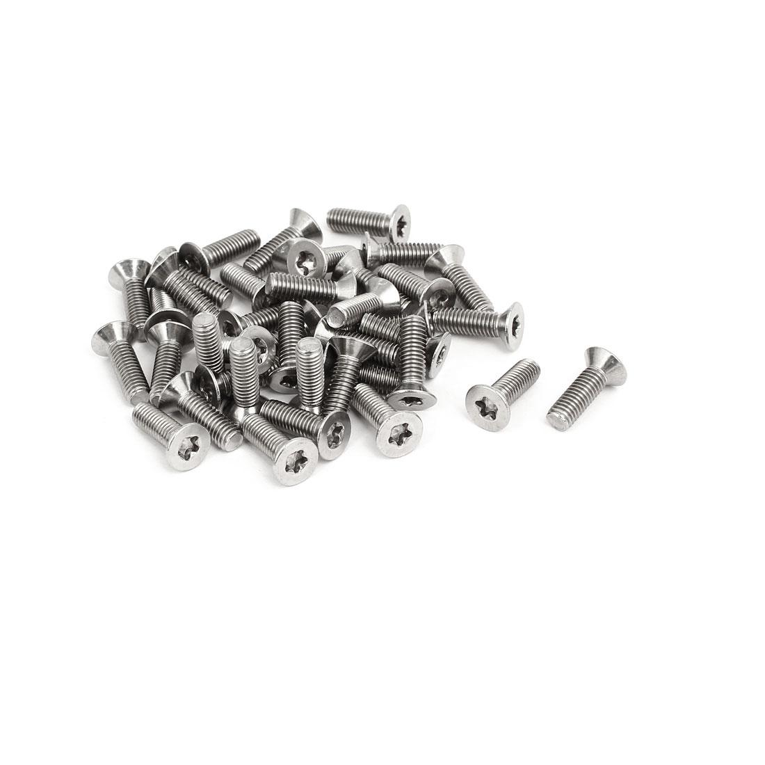 M5x16mm 304 Stainless Steel Countersunk Flat Head Torx Five-Lobe Screw 40pcs